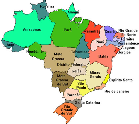 mapa do brasil por estados Estados do Brasil   Mundo Educação mapa do brasil por estados