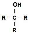 Fórmula estrutural geral de um álcool