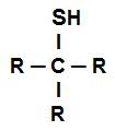 Fórmula estrutural geral de um tioálcool