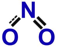 Fórmula estrutural do monóxido de dinitrogênio