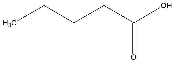 Fórmula estrutural do ácido valérico