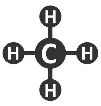Fórmula estrutural do metano