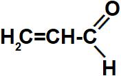 Fórmula estrutural do propenal