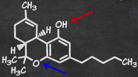 Fórmula estrutural do THC
