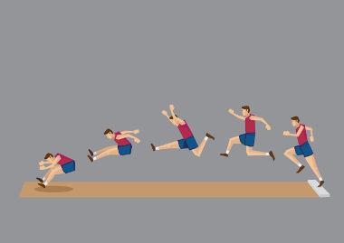 O salto em distância é um tipo de lançamento oblíquo