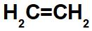 Fórmula estrutural do eteno.