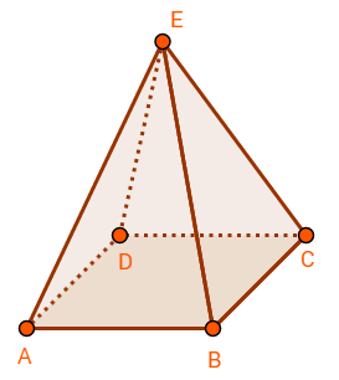 Ilustração de um poliedro e seus elementos: faces, arestas e vértices