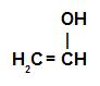 Fórmula estrutural de um enol qualquer