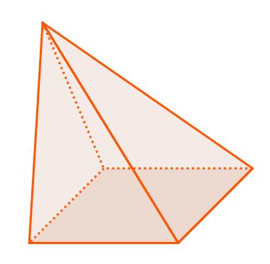 Pirâmide cuja base é um quadrilátero
