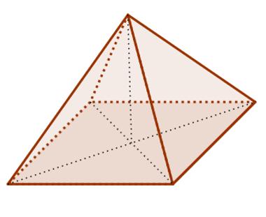 Pirâmide cuja projeção ortogonal do vértice é o centro da base