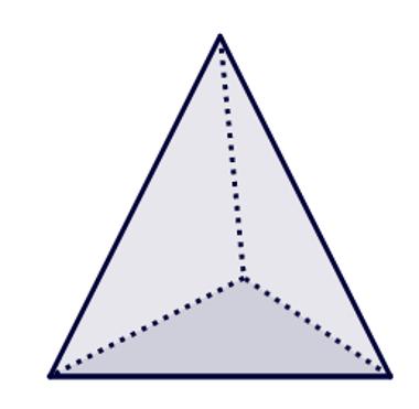 Tetraedro: Pirâmide triangular