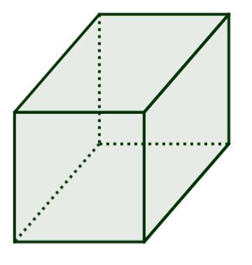 Cubo: cumpre os pré-requisitos para ser um poliedro de Platão
