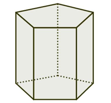 Prisma cujas bases são pentágonos