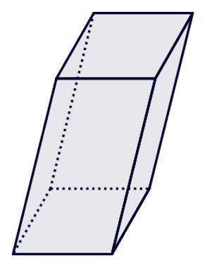 Prisma cujas bases são quadriláteros