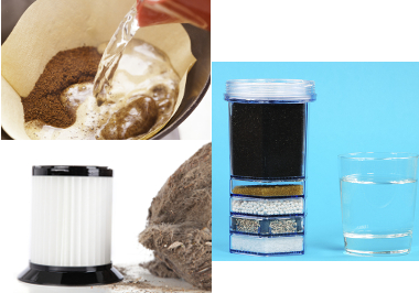 Exemplos de filtração no cotidiano