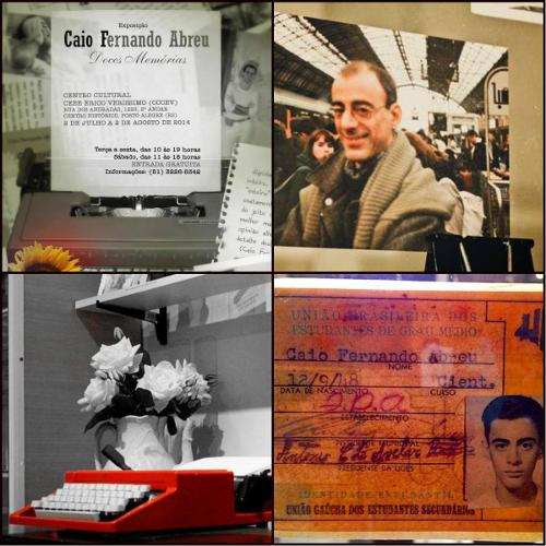 Imagens da Exposição Caio Fernando Abreu: Doces Memórias. Imagens gentilmente cedidas por Márcia de Abreu Jacintho