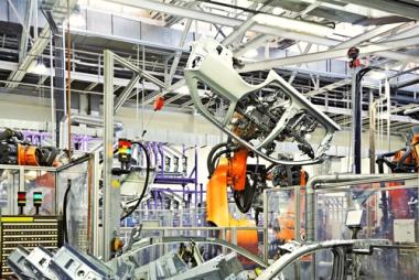 Produção fabril de automóveis