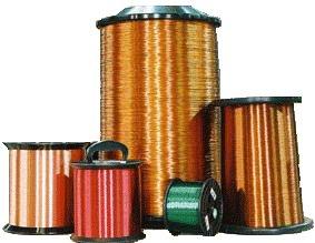 Fios de cobre são bons condutores elétricos.