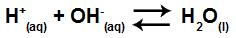 Equação da formação da água a partir de íons