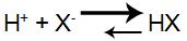 Equação de formação do ácido