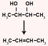 Equação que indica o alceno utilizado na formação do diálcool
