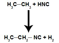 Equação representando a formação de um isonitrilo