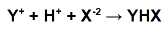 Equação representando a formação do sal ácido