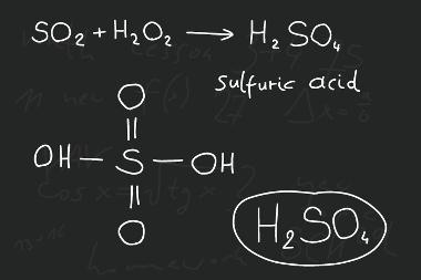 Fórmula do ácido sulfúrico e sua formação