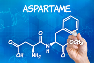 Fórmula do aspartame usado como adoçante
