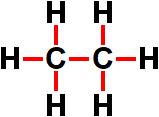 Ligações presentes na fórmula estrutural do etano