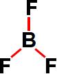 Ligações presentes na fórmula estrutural do trifluoreto de boro