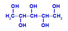 Fórmula estrutural do xilitol