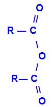 Fórmula geral de um anidrido de ácido carboxílico