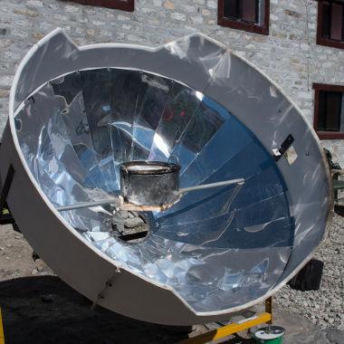 Exemplo de forno solar