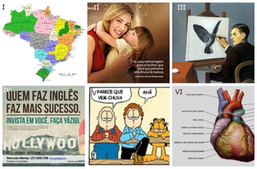 As funções da linguagem também podem ser encontradas na linguagem não verbal. São exemplos disso os anúncios publicitários, as pinturas e os mapas