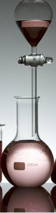 Decantação de líquidos com funil de bromo ou funil de separação
