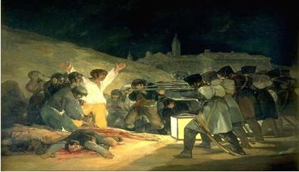 Os Fuzilamentos de três de Maio (1808) – Francisco Goya