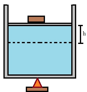 A figura mostra um cilindro com gás em seu interior que está sendo submetido a uma variação de temperatura
