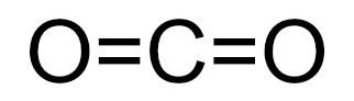 Fórmula estrutural do gás carbônico