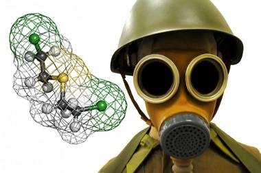 Reação de substituição do gás mostarda