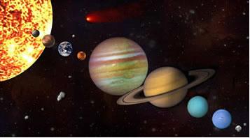 Planetas se movem em torno do Sol devido a ação da Gravidade