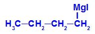 Fórmula estrutural de um composto de Grignard com iodo