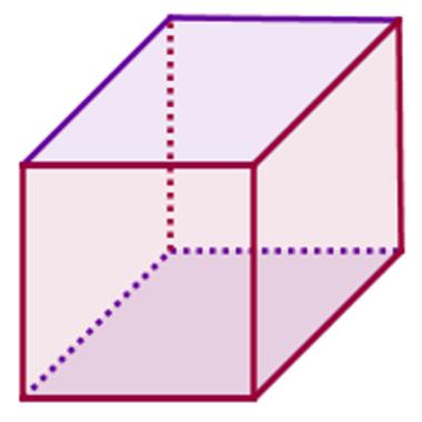 Imagem de um cubo ou hexaedro regular