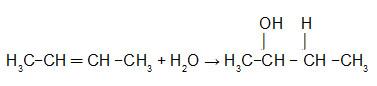 Equação que representa a hidratação do But-2-eno