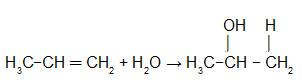 Equação de hidratação do propeno