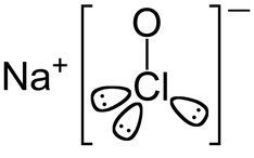 Fórmula do hipoclorito de sódio