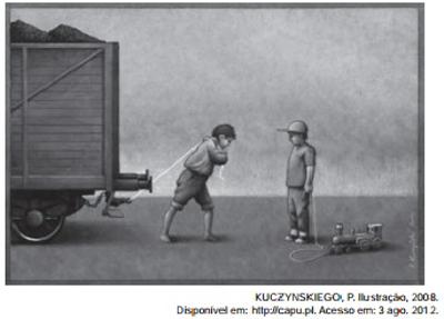 Através da linguagem não verbal, o artista gráfico polonês Pawla Kuczynskiego aborda a triste realidade do trabalho infantil