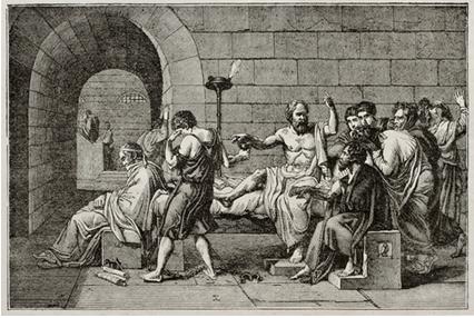 A morte de Sócrates, tela de Jacques Louis David