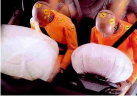 O airbag funciona por meio de uma faísca elétrica