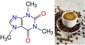 Fórmula da cafeína e café